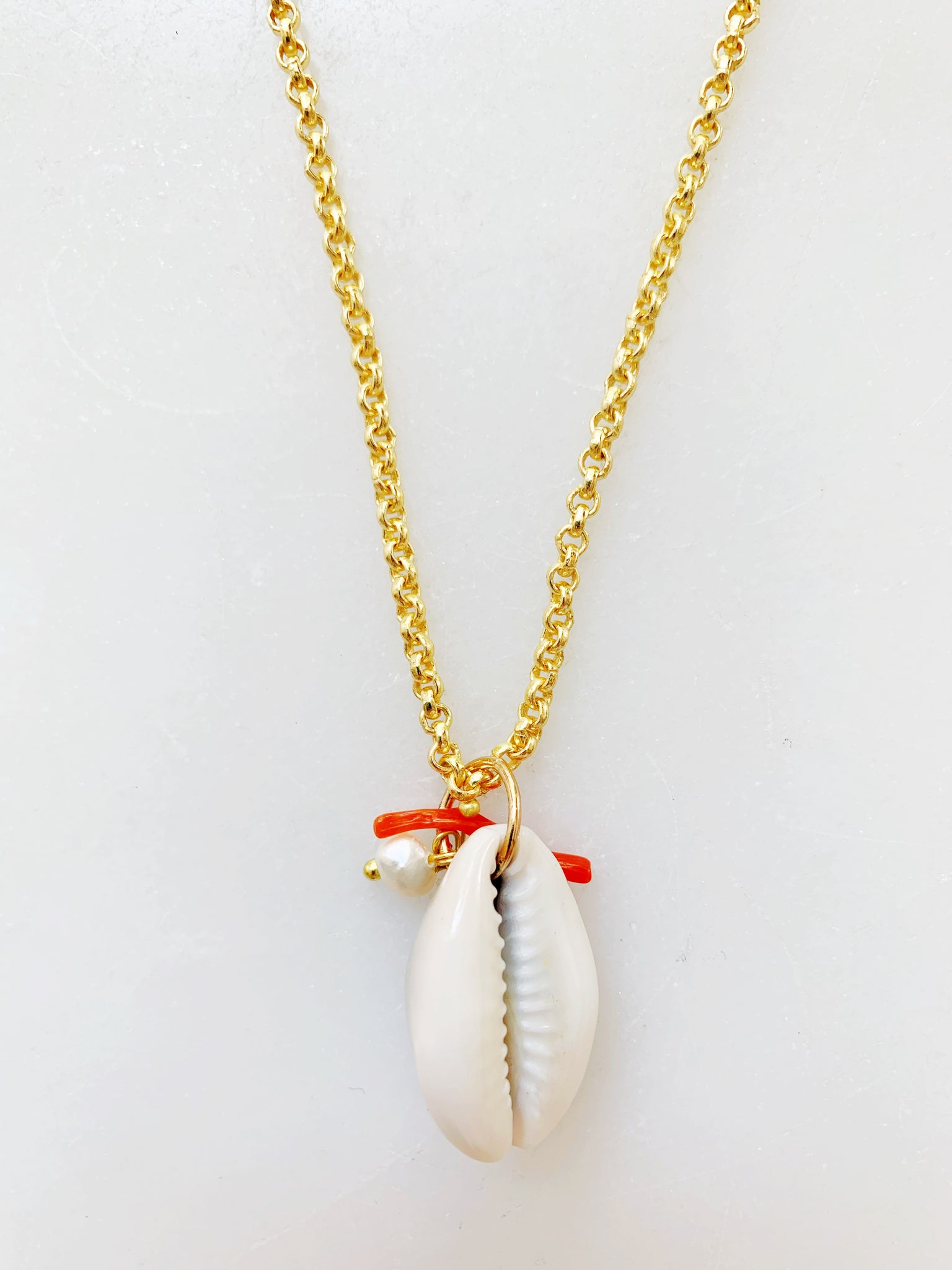 Cowrie Charm Necklace