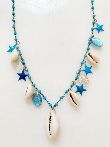 Cowrie Multi-Charm Necklace