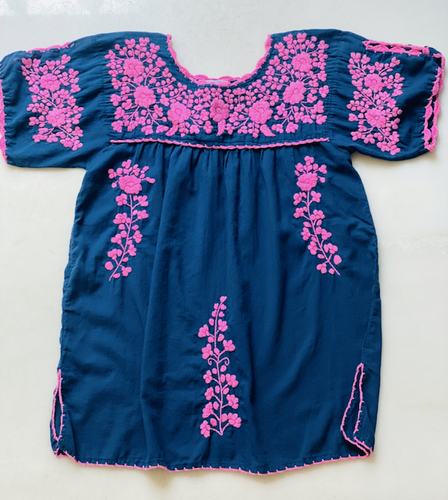 Oaxaca - Split Sleeve (Navy with Pink)