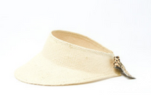Margot Leopard Straw Visor