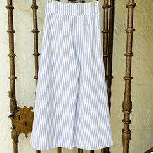 Olive Pants - Blue Stripe