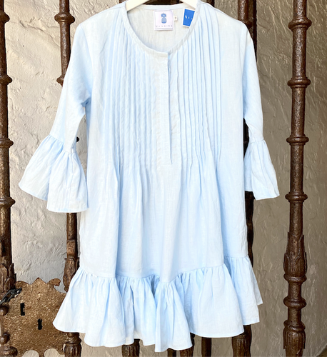 Jade Smock Dress - Pale Blue