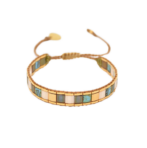 Lucca 2.0 Bracelet - Turquoise and Gold