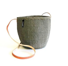 Warm Grey Small Bucket Bag Long Handle