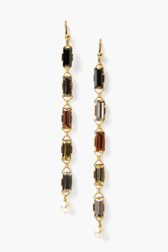 Jet Mix Drop Earring