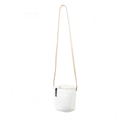 White XS Bucket Bag Long Handle