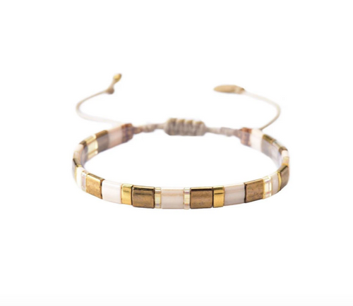 Lucca Bracelet - Gold and White
