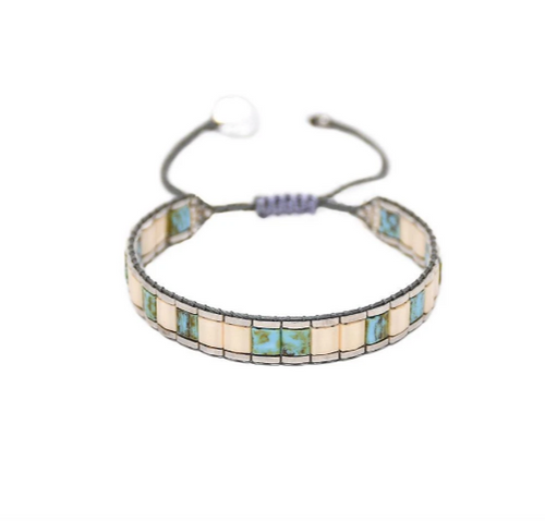 LUCCA 2.0 BRACELET - Turquoise and white