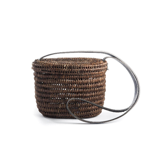 Turkana Lid Basket - Dark brown