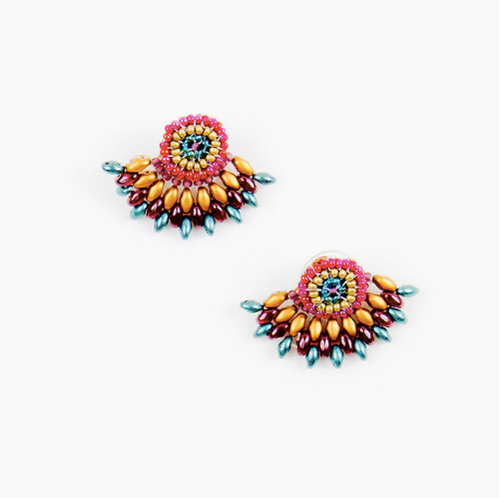 Duo Post Earring -  Moroccan Multi