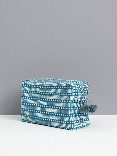 Washbag - Dot Dash Teal