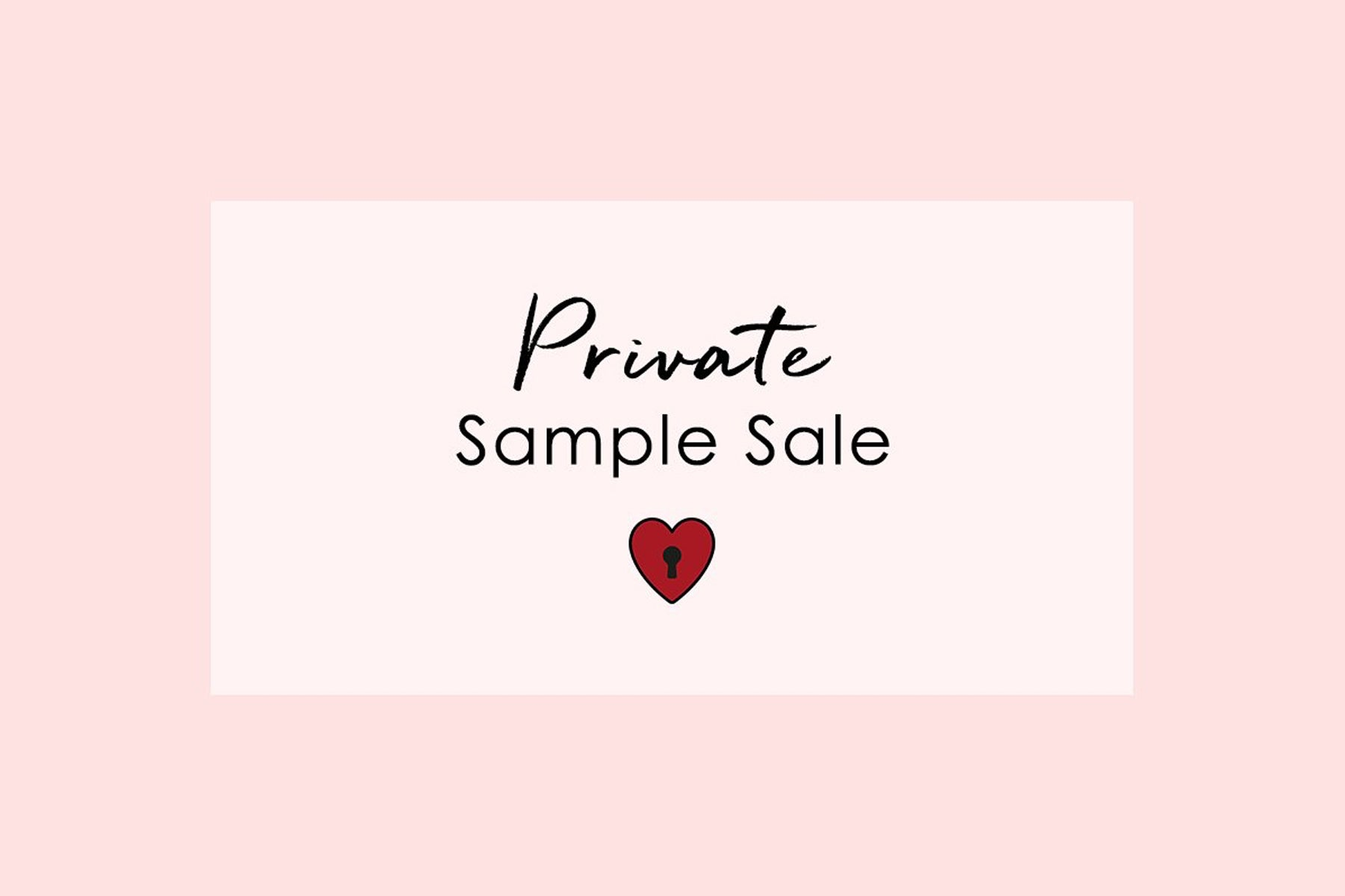 Private Sample Sale