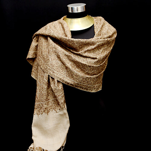 Aztec Gold Cashmere Shawl