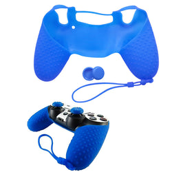 Silicone Protective Cover Case+ JoyStick Caps for Sony Playstation 4 Controller