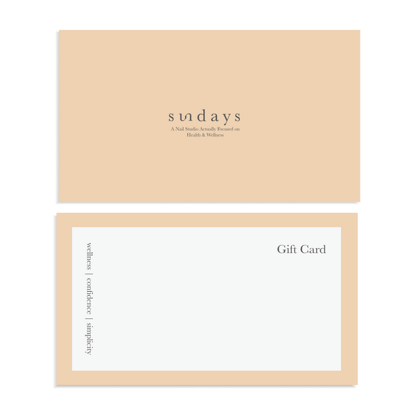Vegan, 10-Free and Nontoxic Nail Polish Gift Card - sundays studio