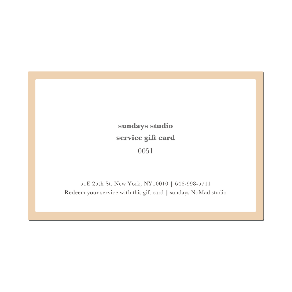 Service Gift Card $50 (only for studio services)