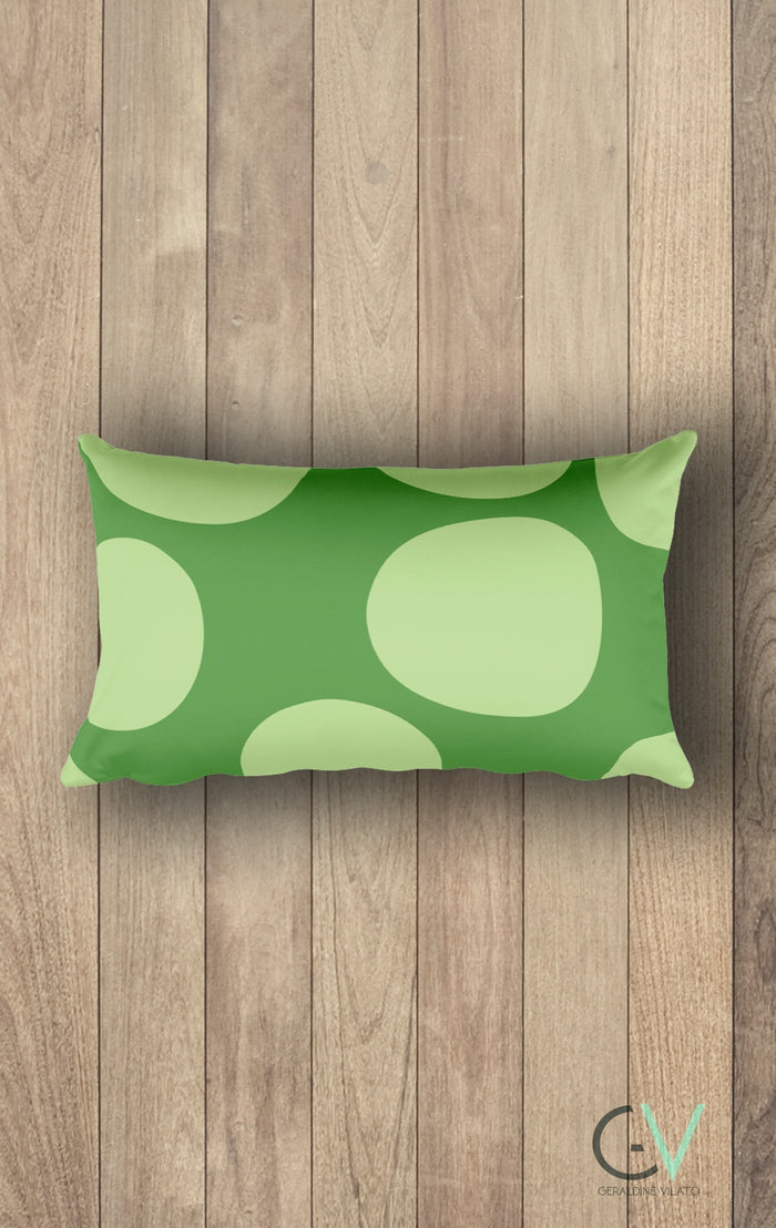GV Glamorous Green Circles - Rectangular Pillow