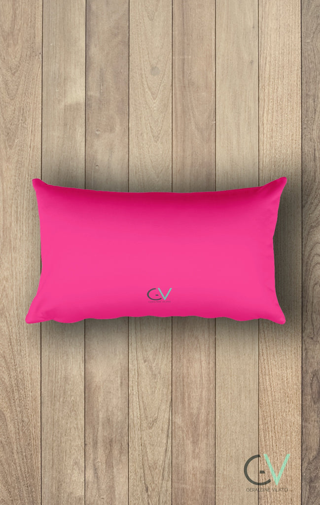 Pink Circles Rectangular Pillow