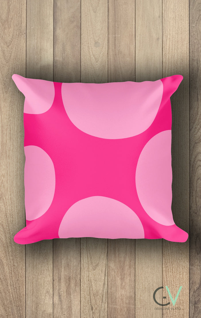 Pink circles Square Pillow