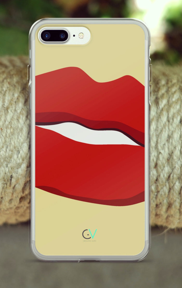GV Retro Beauty Red Lips iPhone 7/7 Plus Case
