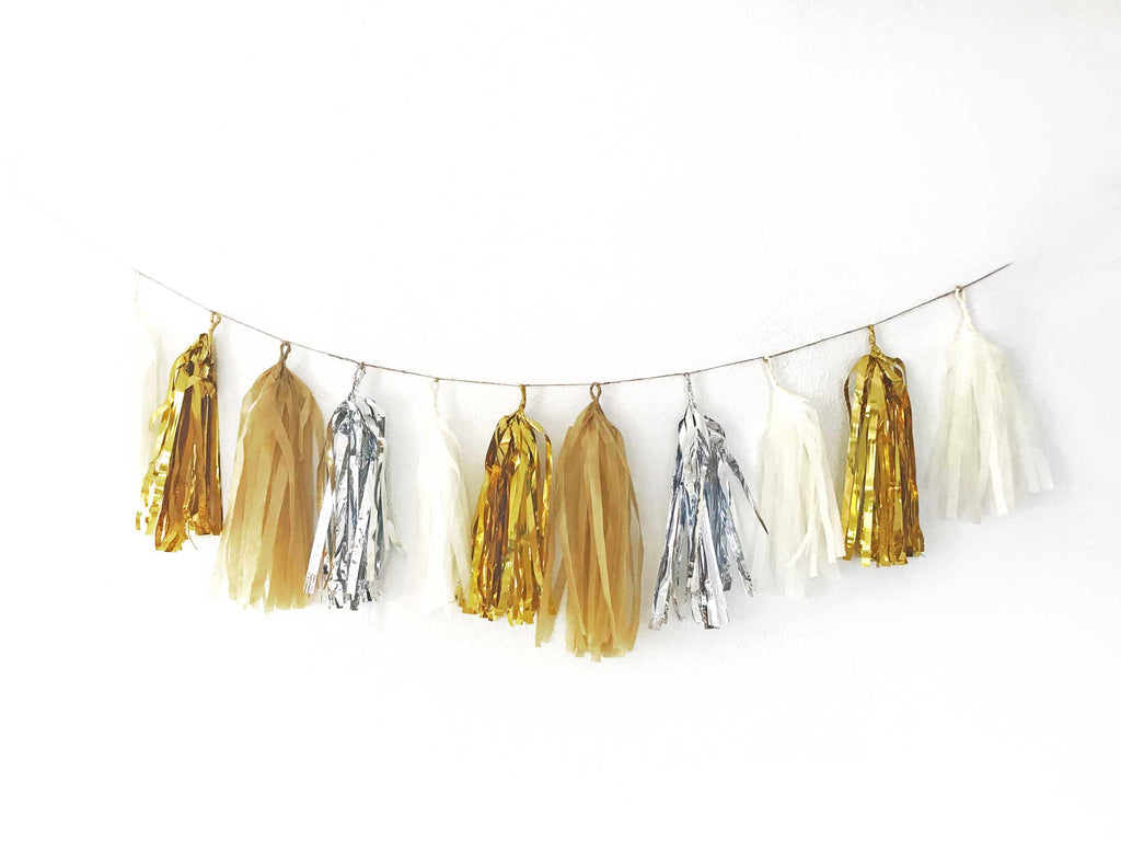 Bachelorette Garland Neutral Tassel Garland