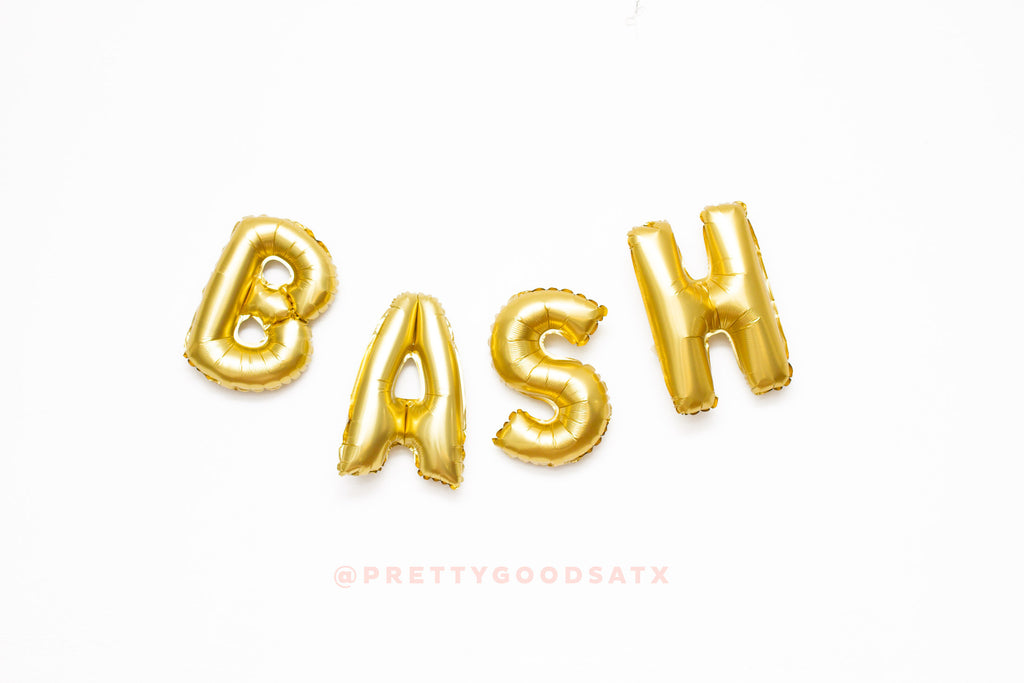 BASH letter balloons, bachelorette party