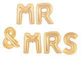 MR & MRS balloon banner, engagement balloons