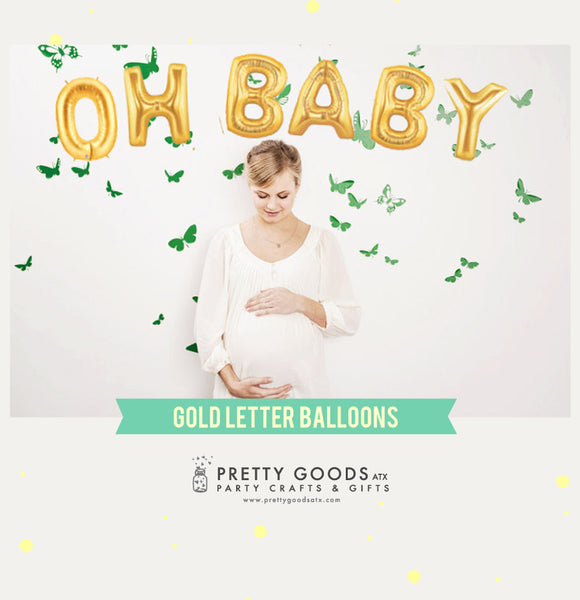 OH BABY letter balloons, baby balloon banner