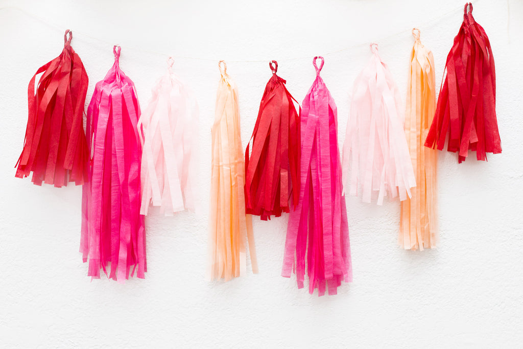Bachelorette decor LOVE Tissue Tassel Garland