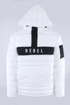 White Rebel Mind Anorak Puffer Jacket 192-570