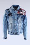Blue Flannel Lining Denim Jacket