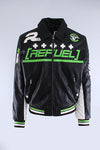 Black Refuel Perforated Racing Jacket