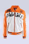 Orange Refuel Perforated Racing Jacket
