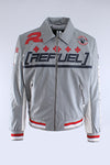 Grey Refuel Perforated Racing Jacket
