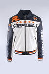Blue Refuel Perforated Racing Jacket