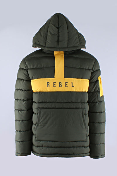Olive Rebel Mind Anorak Puffer Jacket 192-570