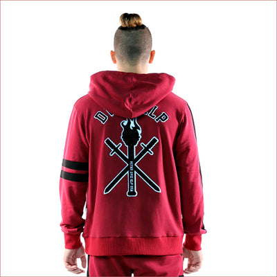 Kleep French Terry Burgundy Pullover Hoodie