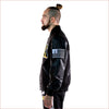 KLEEP Black Premium Melton Body Bomber Jacket