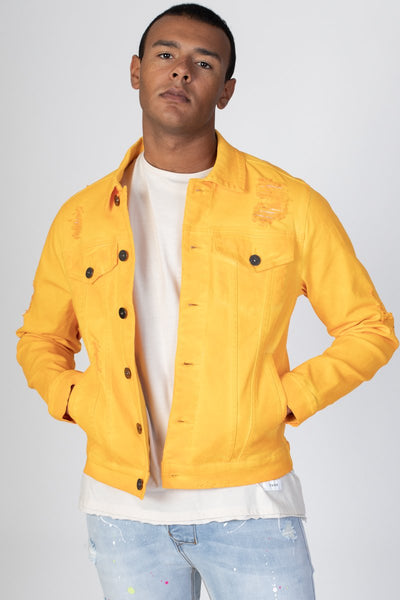 Yellow Colored Twill Jacket KN05034