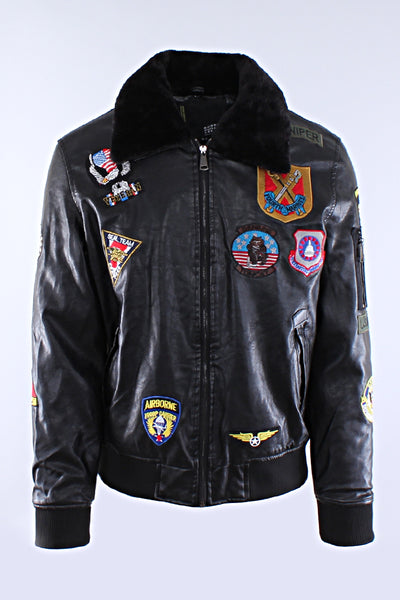 Robert Phillipe Multiple Patched Flight Jacket