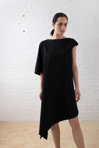 Asymmetric Linen Dress