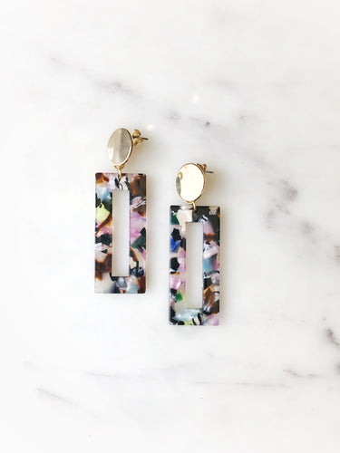 Acrylic Bar Earring - Confetti Mix