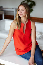A Line Mod Top - Warm Red