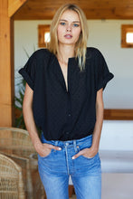 India Button Down - Black Dots