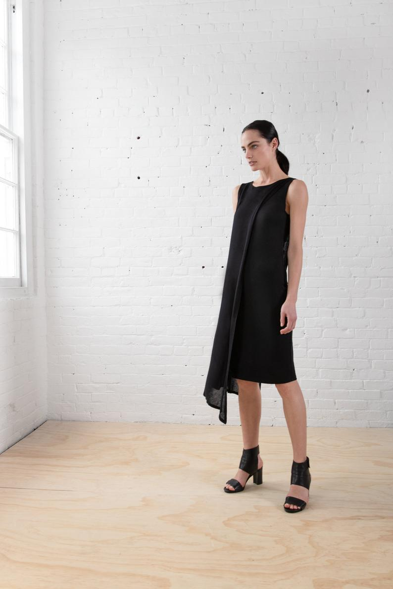 Asymmetric Hem Shift Dress