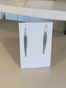 Sterling Silver Spear Earrings