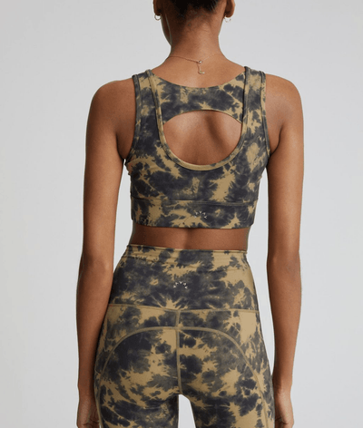 womens silky soft white racerback gym vest tip with low cut neck