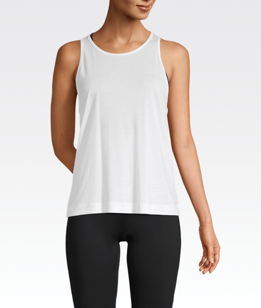 Liquid Tencel Tank White