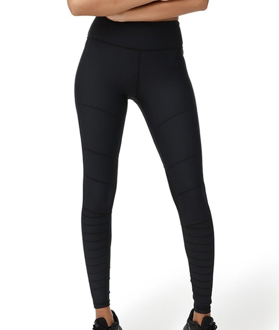 high waisted black activewear gym leggings full length