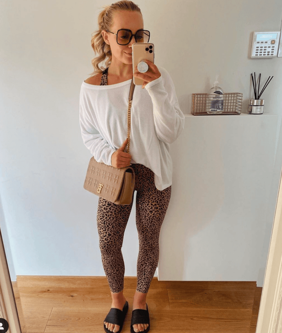 7/8 Cheetah Sand Legging
